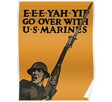Go Over With US Marines -- World War One Poster