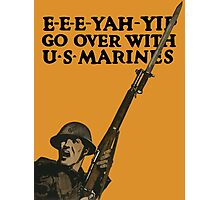 Go Over With US Marines -- World War One Photographic Print