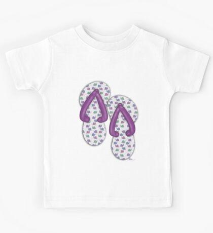 'Snails' Flip Flops T-Shirt Kids Tee