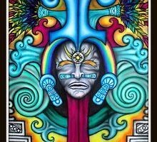 quetzalcoatl/rainbow serpent by josh astuto