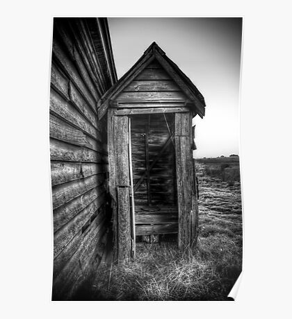 "Outhouse ""Dunny"" - HDR Poster"