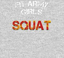 Fit Army Girls Squat Gray/White/Red Tank Top