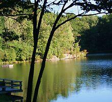 babcock lake in wv by fotoflossy