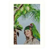 Captain Jane Parrot Art Print
