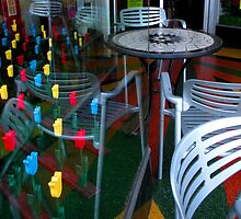 """""""Wooden Tulips - Cafe Reflections"""" by waddleudo"""