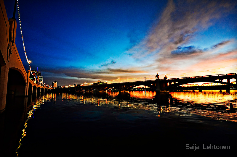 Tempe Town Lake Sunset  by Saija  Lehtonen