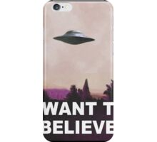 I want to believe (pink) iPhone Case/Skin
