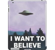 I want to believe (purple) iPad Case/Skin
