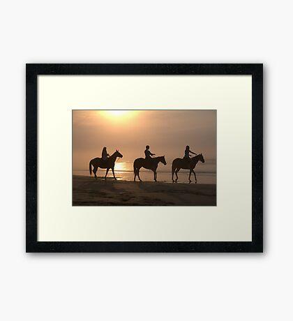 lets ride... Framed Print