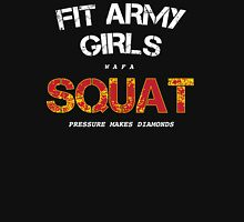 Fit Army Girls Squat Black/White/Red Tank Top