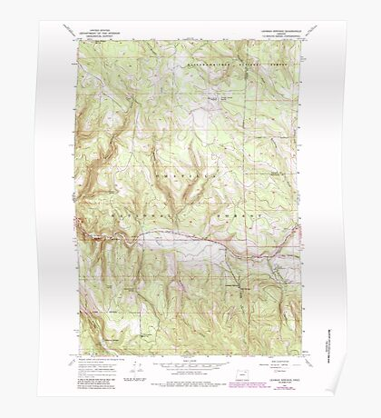 USGS Topo Map Oregon Lehman Springs 280502 1967 24000 Poster