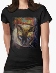 Seal Point Siamese Womens Fitted T-Shirt