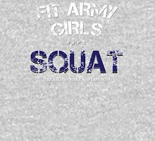 Fit Army Girls Squat Gray/White/Blue Tank Top