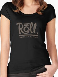 Let's Roll Brazilian Jiu-Jitsu Brown Belt Women's Fitted Scoop T-Shirt