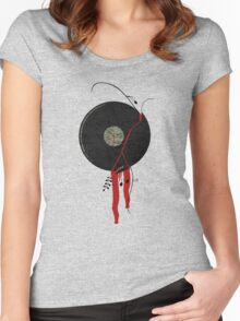The bloody vinyl record won't die...Grunge Vintage Women's Fitted Scoop T-Shirt