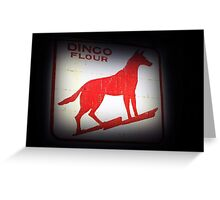 Dingo Flour Sign - Fremantle Western Australia  Greeting Card