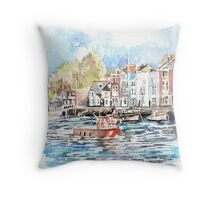 Little red boat,  Weymouth Throw Pillow