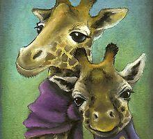 Hipster giraffes by tanyabond