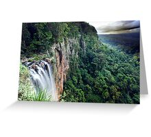 Purling Brook Falls View Greeting Card