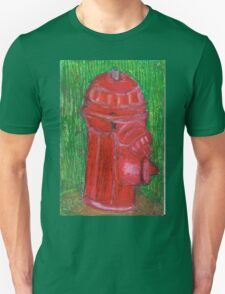 Fire Engine Red Fire Hydrant Unisex T-Shirt