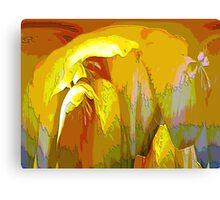 Freesia Garden Abstract Canvas Print