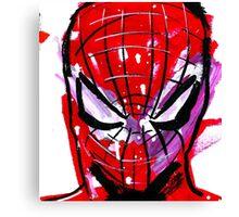 Spiderman splash Canvas Print