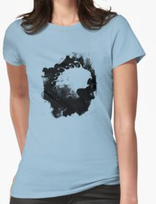 Monster in the mist Womens Fitted T-Shirt