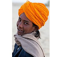 Young Cameleer, Thar Desert Photographic Print