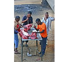 Sowetan Butchers Photographic Print