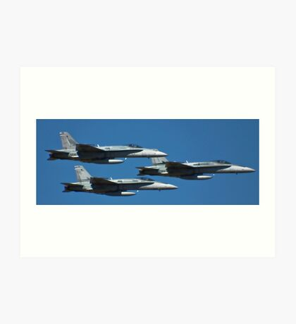 Hornets come in Threes Art Print