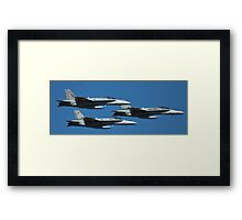 Hornets come in Threes Framed Print