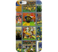 Michigan Wolverines Football Collage 2015 iPhone Case/Skin