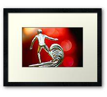 hang ten Framed Print