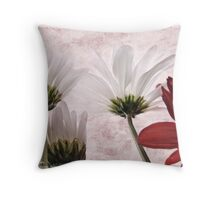 Red agains white Throw Pillow