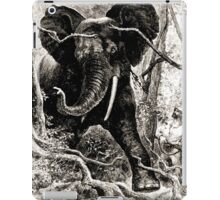 Édouard Riou Voyage brazza elephant hunt riou 1887 iPad Case/Skin
