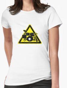 Dangerous drummer Womens Fitted T-Shirt