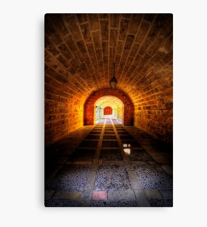 Fortress Tunnels Canvas Print