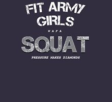 Fit Army Girls Squat Blue/White/Gray Tank Top