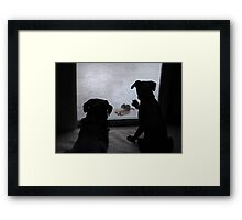 It was too wet to play! Framed Print