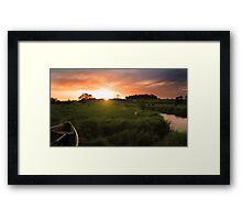 Homersfield Sunset Framed Print