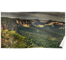 Of Rugged Mountain Ranges - Blue Mountains World Heritage Area , Sydney -The HDR Experience Poster