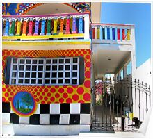 """Crayon House"" Mujeres Island, Mexico Poster"
