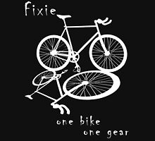 Fixie - one bike one gear (white) Long Sleeve T-Shirt