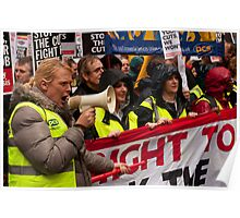 Right to Work protest march - Birmingham, Oct 2010 Poster