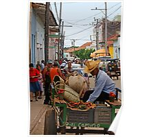 The mobile Grocer, Trinidad, Cuba Poster