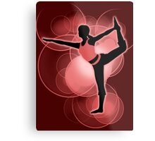 Super Smash Bros. Red Wii Fit Trainer (Female) Silhouette Metal Print