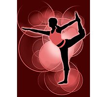 Super Smash Bros. Red Wii Fit Trainer (Female) Silhouette Photographic Print
