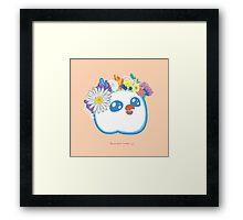 Pandabird in Spring - Orange! Framed Print