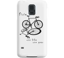 Fixie - one bike one gear (black) Samsung Galaxy Case/Skin