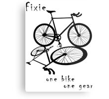 Fixie - one bike one gear (black) Metal Print